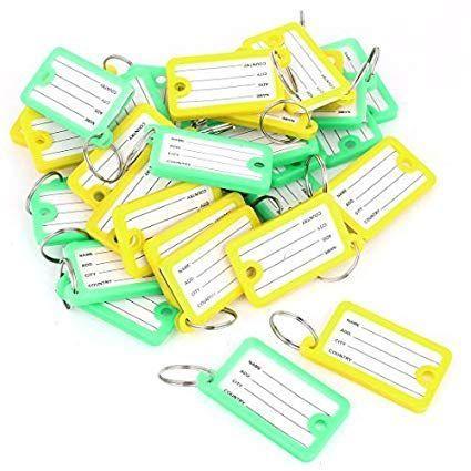 f621ee9b69e40 Imagem de Kit chaveiro organizador identificador de chaves para  claviculario porta chaves com 60 unidades