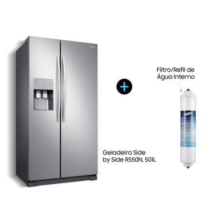 Geladeira/refrigerador 501 Litros 2 Portas Inox Side By Side - Samsung - 110v - Rs50n3413s8/az