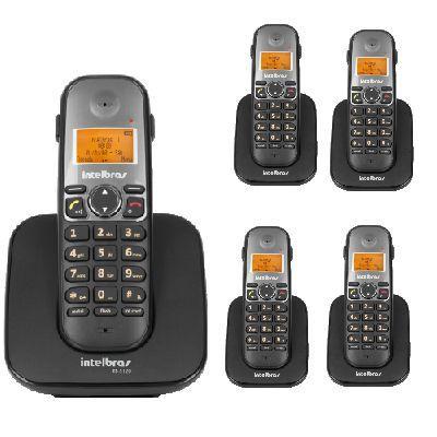 6135341a6 Kit Telefone Sem Fio TS 5120 + 4 Ramais TS 5121 Intelbras - Kit de ...