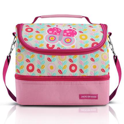 bc1554c39 Lancheira térmica bolsa escolar menina alça ajustável 2 compartimentos  borboleta jacki design rosa - Mochilas e Lancheiras - Magazine Luiza