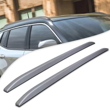 Longarina de Teto Slim Modelo Decorativo Prata 2 Peças Aplicação Fácil Dupla Face 1,60m Universal - Tg Poli