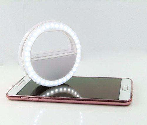 f1d9e6728a1 Imagem de Luz De Selfie Flash Para Celular Portatil Clipe Anel Branco  (60413 / 888600