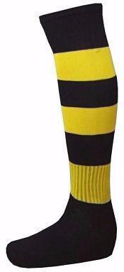 Meião Profissional Listrado Preto Amarelo - Kanxa - Futebol ... 31364825edddd