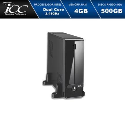 Desktop Icc Sl1841s Celeron J1800 2.41ghz 4gb 500gb Intel Hd Graphics Linux Sem Monitor