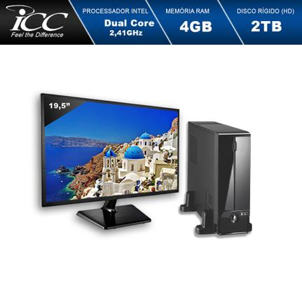 Desktop Icc Sl1843sm19 Celeron J1800 2.41ghz 4gb 640gb Intel Hd Graphics Linux Com Monitor
