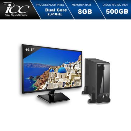 Desktop Icc Sl1881dm19 Celeron J1800 2.41ghz 8gb 500gb Intel Hd Graphics Linux Com Monitor