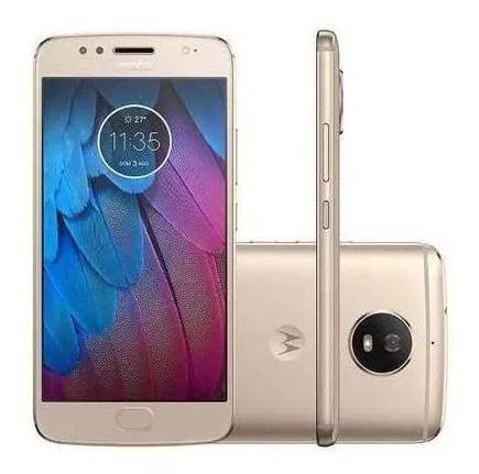 Celular Smartphone Motorola Moto G5 Xt1671 32gb Dourado - Dual Chip