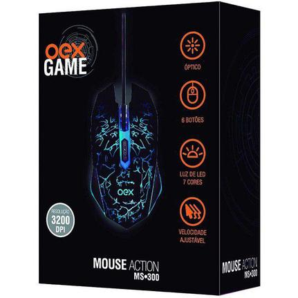 Mouse Usb Laser 3200 Dpis Action Ms300 Oex