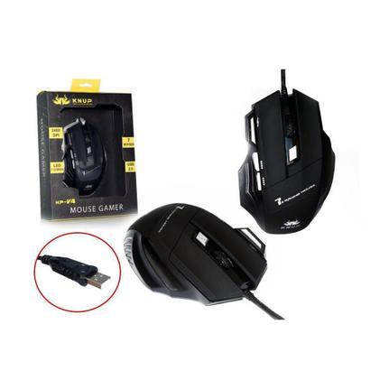 Mouse Usb Óptico Led 2400 Dpis Kp-v4 Knup