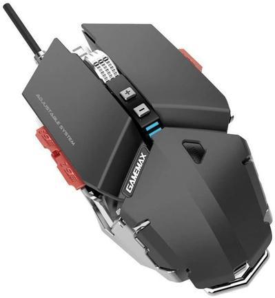 Mouse Usb Laser 4000 Dpis Gx9 Metal Mecânico Preto Gamemax