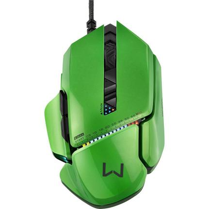 Mouse Usb Óptico Led 8200 Dpis Gamer Warrior Armor Mo247 Multilaser