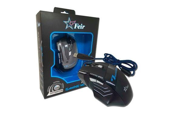 Mouse Usb Óptico Led 2400 Dpis Gamer Fr404 Feir