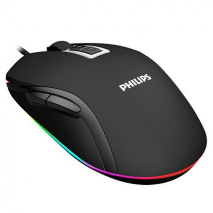 Mouse Usb Óptico Led 2400 Dpis Spk9212b Philips