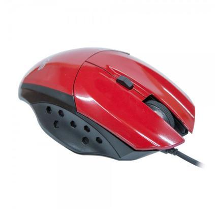 Mouse Usb Óptico Led 3200 Dpis Gamer Precision Vermelho Mg-07 Evus