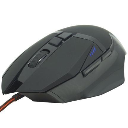 Mouse Usb Óptico Led Soldado Preto Gm-601 Infokit