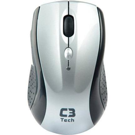 Mouse Wireless Óptico Led 1600 Dpis M-w012bsi C3 Tech