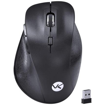 Mouse Wireless Óptico Led 1600 Dpis Silent Ergo Sm300 Vinik