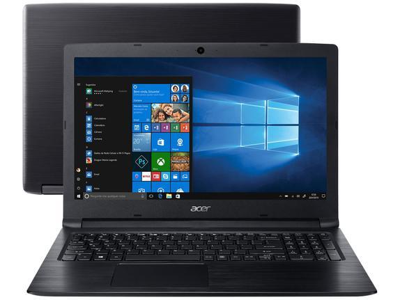 """Notebook - Acer A315-53-55dd I5-7200u 2.50ghz 4gb 1tb Padrão Intel Hd Graphics 620 Windows 10 Home Aspire 3 15,6"""" Polegadas"""