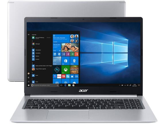 "Notebook - Acer A515-54-59x2 I5-10210u 1.60ghz 8gb 512gb Ssd Intel Hd Graphics Windows 10 Home Aspire 5 15,6"" Polegadas"