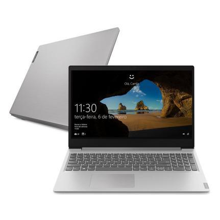 "Notebook - Lenovo 81xm0007br I3-8130u 2.20ghz 4gb 128gb Ssd Intel Hd Graphics 620 Windows 10 Home Ideapad S145 15,6"" Polegadas"