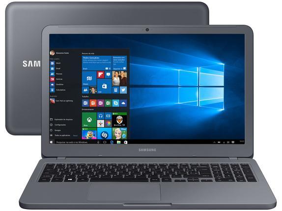 """Notebook - Samsung Np350xaa-kdabr Celeron 3865u 1.80ghz 4gb 500gb Padrão Intel Hd Graphics 620 Windows 10 Home Essential E20 15,6"""" Polegadas"""