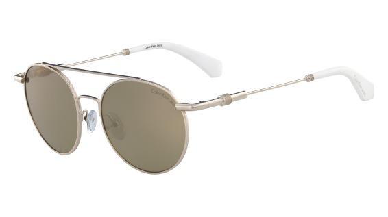 Imagem de Óculos Calvin Klein Jeans Ckj163S 702 Ouro Lente Marrom Flash Tam  50 47959efc01