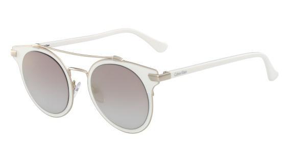 0edcdb4ee3ef9 Imagem de Óculos CK Ck2149S 108 Branco Lente Cinza Flash Degradê Tam 50