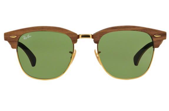 8513c29eebfdf Óculos De Sol Ray Ban Clubmaster Wood RB3016M 11824E Madeira Lente Verde Tam  51 - Ray-ban - Óculos de Sol - Magazine Luiza