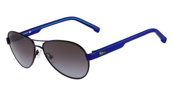 85877c7cb1b47 Imagem de Óculos Lacoste L3103S 001 Preto Azul Lente Marrom Flash Degradê  Tam 53