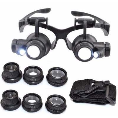 44d25044c6092 Oculos Lente Aumento Lupa Duplo Aumento Led Precisão - Oskn - Lupa ...