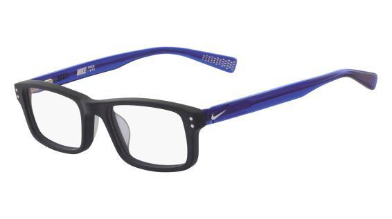 e1e15e5e6fddb Óculos Nike 5537 401 Preto Azul Lente Tam 47 - Óculos de grau ...