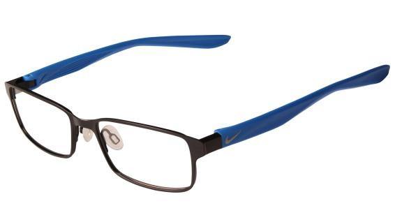f6336d8e21a6f Óculos NIKE Nike 5576 002 Preto Fosco Azul Lente Tam 48 - Óptica ...