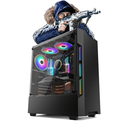 Desktop Neologic Gamer Nli81750 Amd Ryzen 3 2200g 3.50ghz 8gb 1tb Geforce Gtx 1660 Windows 10 Pro Sem Monitor