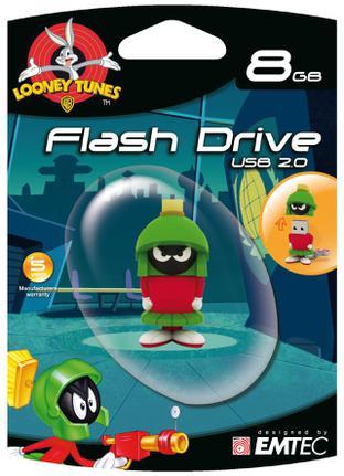 Pen Drive Emtec Looney Tunes - Marvin 8gb - Ecmmd8gl107