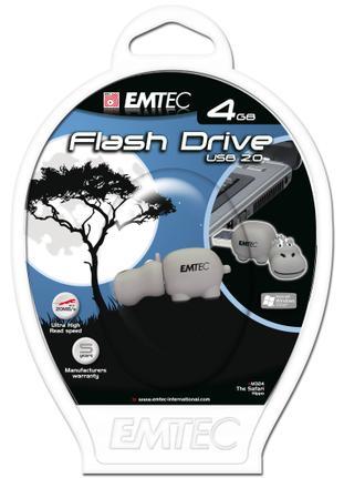 Pen Drive Emtec Safari Hipopótamo 4gb - Ekmmd4gm324