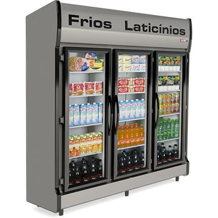 Geladeira/refrigerador 1320 Litros 3 Portas Cinza - Conservex - 220v - As-3e