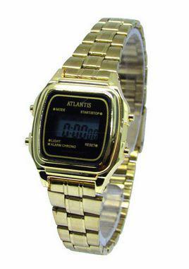 d69d45fac53 Relogio atlantis unissex w7049 vintage dourado - Relógio Masculino ...