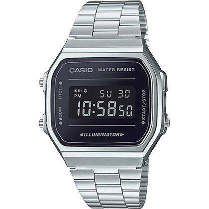 c284ae294521 Relógio Casio Vintage Espelhado Preto Unissex A168WEM-1DF - Relógio ...