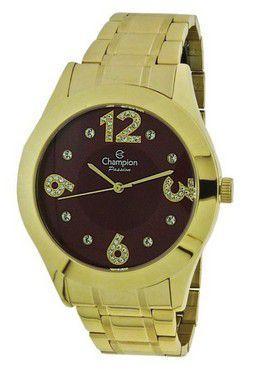 44e9234bd95 Relogio champion feminino dourado cn29178i - Relógio Feminino ...