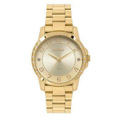 Relógio Condor Feminino Bracelete Dourado CO2035KOM 4D - Relógio ... acd70f7d8f