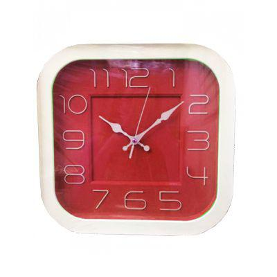 aa051513c66 Imagem de Relógio de Parede Redondo Para Sala Cozinha 28 cm Vermelho