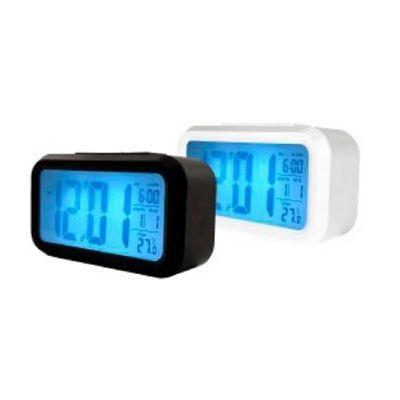 81610309f2b Imagem de Relógio despetador digital alarme termometro luz calendario de  mesa luxo