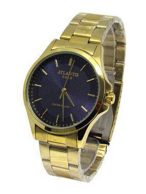 db16351cd1e Relogio feminino atlantis dourado g3469 fundo preto - Relógio ...