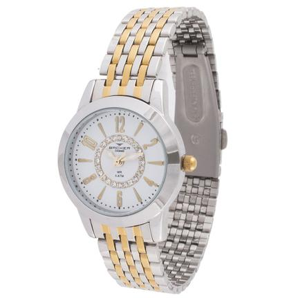 30cb22ff09e Relógio Feminino Backer Analógico 10249134F Prata Dourado - Relógio Feminino  - Magazine Luiza