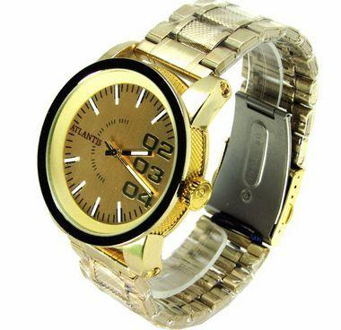 66b66a1be99 Relogio masculino atlantis g3188 dourado fundo dourado - Relógio ...