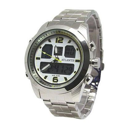 42bd225a336 Relogio masculino atlantis g3227 prata fundo branco amarelo - Relógio  Masculino - Magazine Luiza