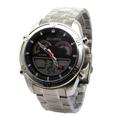 eb7cffeb1ad Relogio masculino atlantis g3446 anadigi prata - Relógio Masculino ...