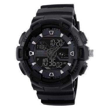 57e415edc6a Relógio Masculino Skmei Anadigi 1189 Preto - Relógio Masculino ...