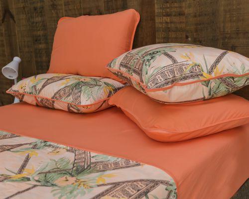 85ba336753 Roupa de cama jogo araçá estampado - Pertutty soft - Jogo de Cama ...