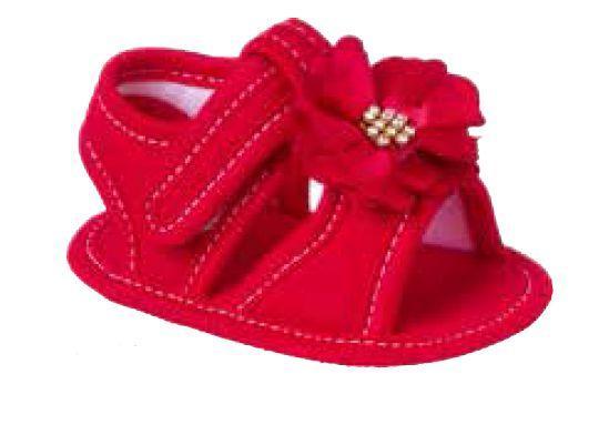 887fc61f8 Sandália para bebê vermelha - Keto vestuario e calcados ltda-me ...